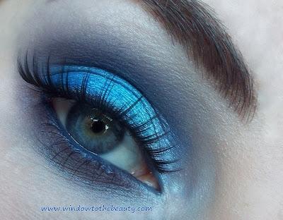niebieski makeup