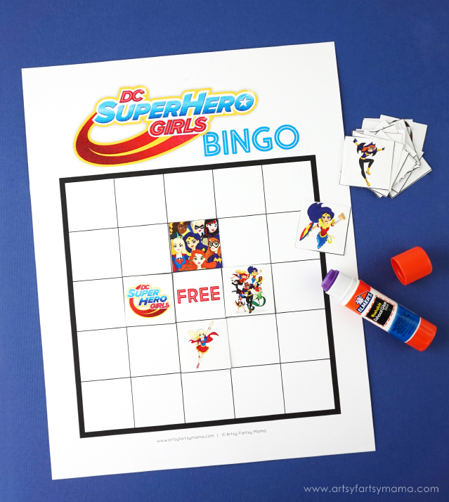 Free Printable DC Super Hero Girls Bingo is great for parties!