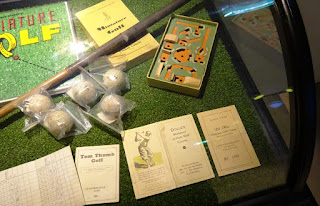 Memorabilia at the Swing by Golfbaren indoor minigolf course and speakeasy in Stockholm Sweden