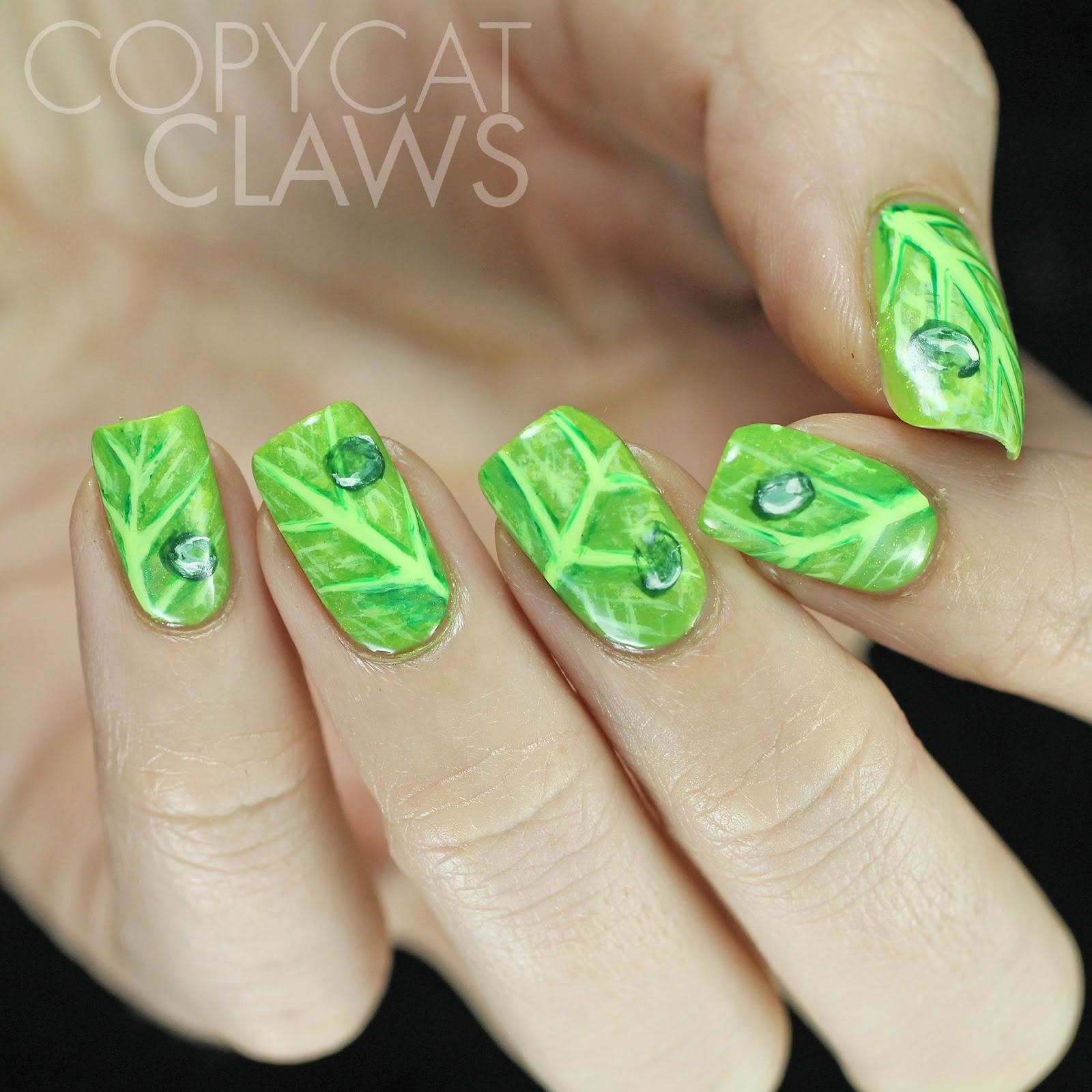 Copycat Claws The Digit Al Dozen Does Nature Day 4 Leaf Nail Art