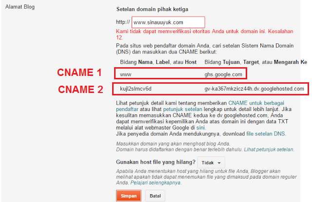 mengganti domain,blogspot, domain TLD