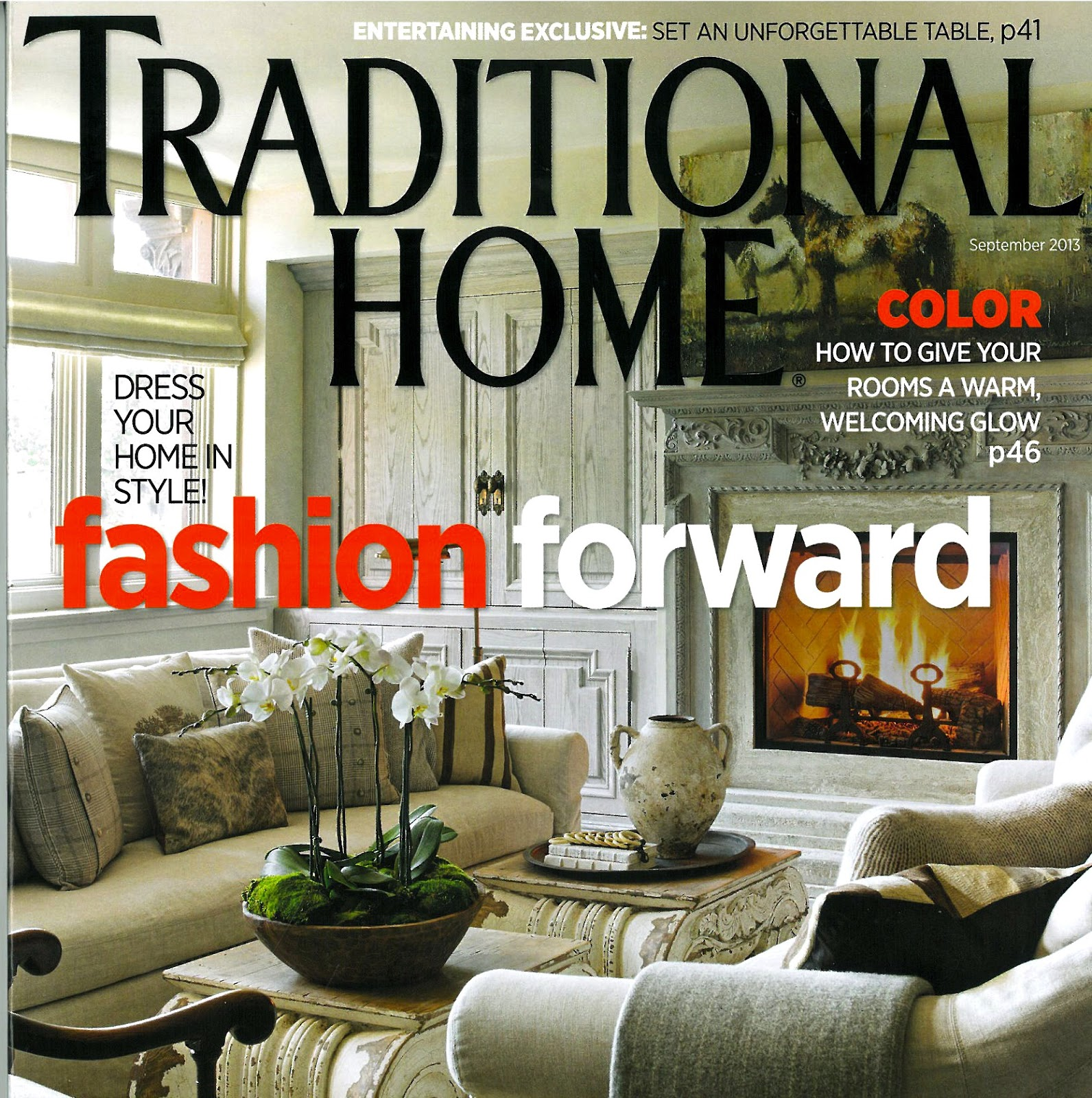 Home Magazine: JUDITH MARCH: Traditional Homes Magazine Features Designer