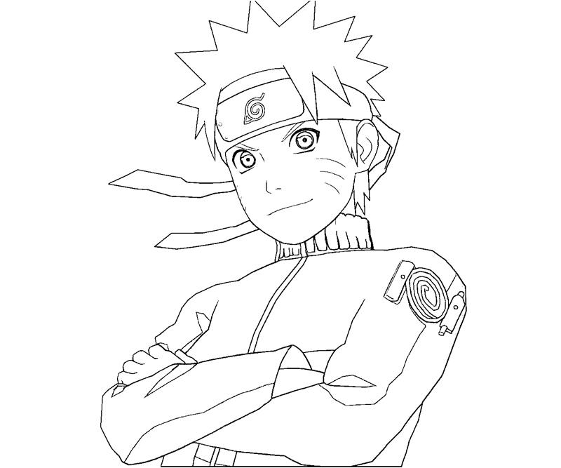 Naruto 10 coloring crafty teenager for Naruto coloring pages online