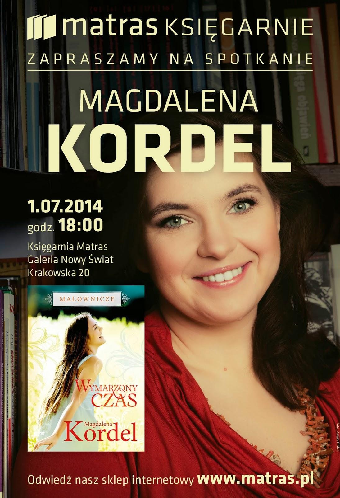 5a346fc82ec9e Zaproszenie na spotkanie autorskie z Magdaleną Kordel !   Kultura i ...