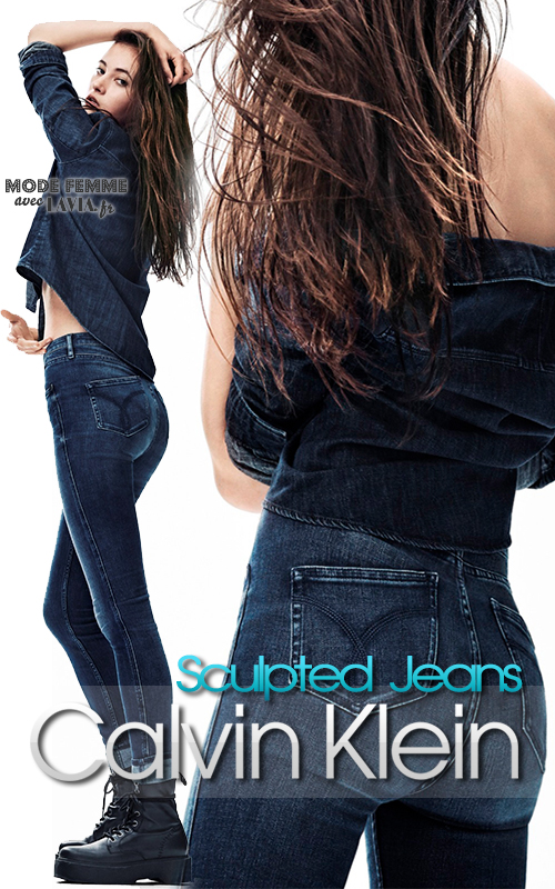 Jean femme sculpted skinny taille haute CALVIN KLEIN