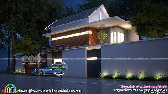 Ultra modern 4 bedroom 1620 square feet home plan