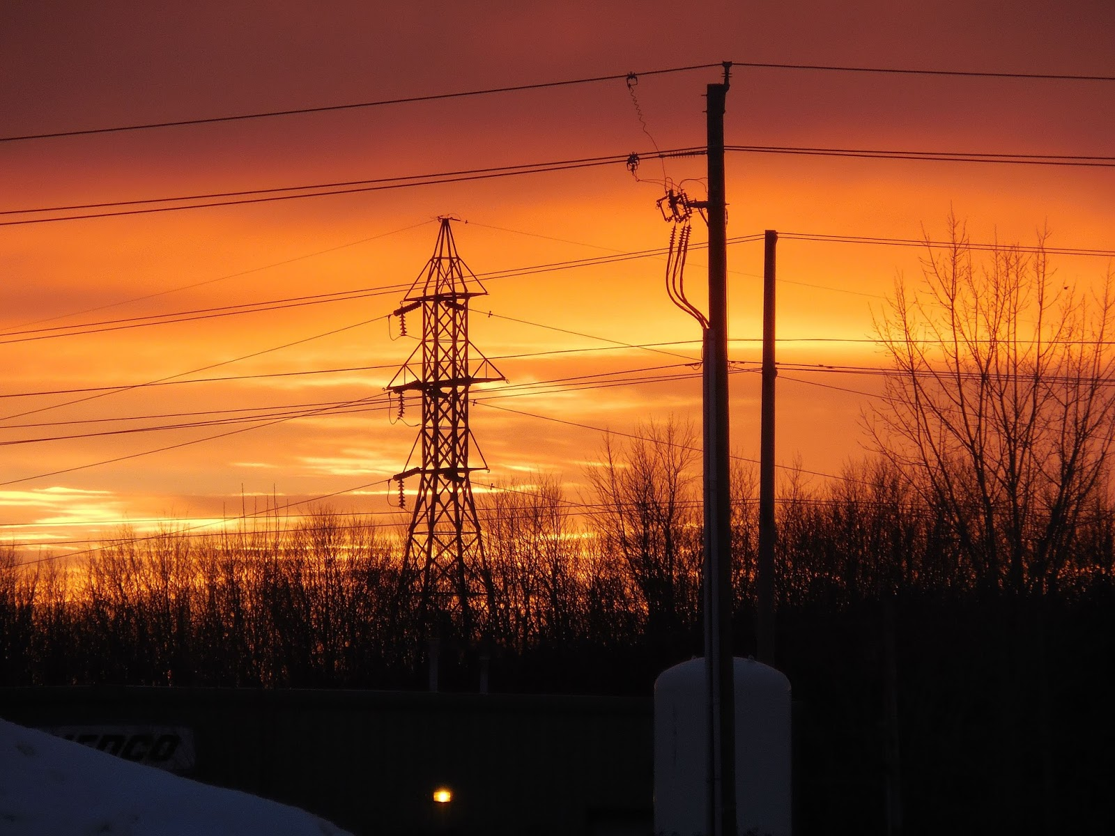 Mark Bellis: Power lines in the Sunset