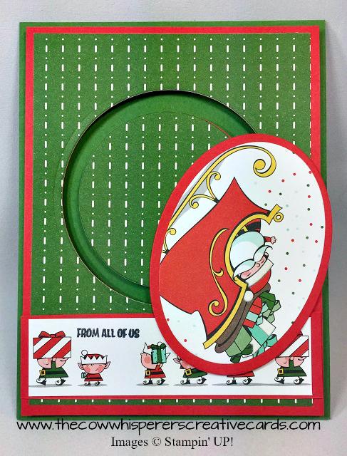 Card, Signs of Santa, Santas Signpost Feramelits, Santa's Workshop Specialty Designer Series Paper, Spinner Card