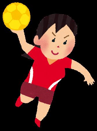 女子ハンドボール選手のイラスト