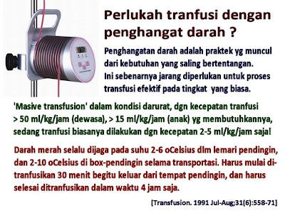 Perlukah Tranfusi Dengan Penghangat Darah?