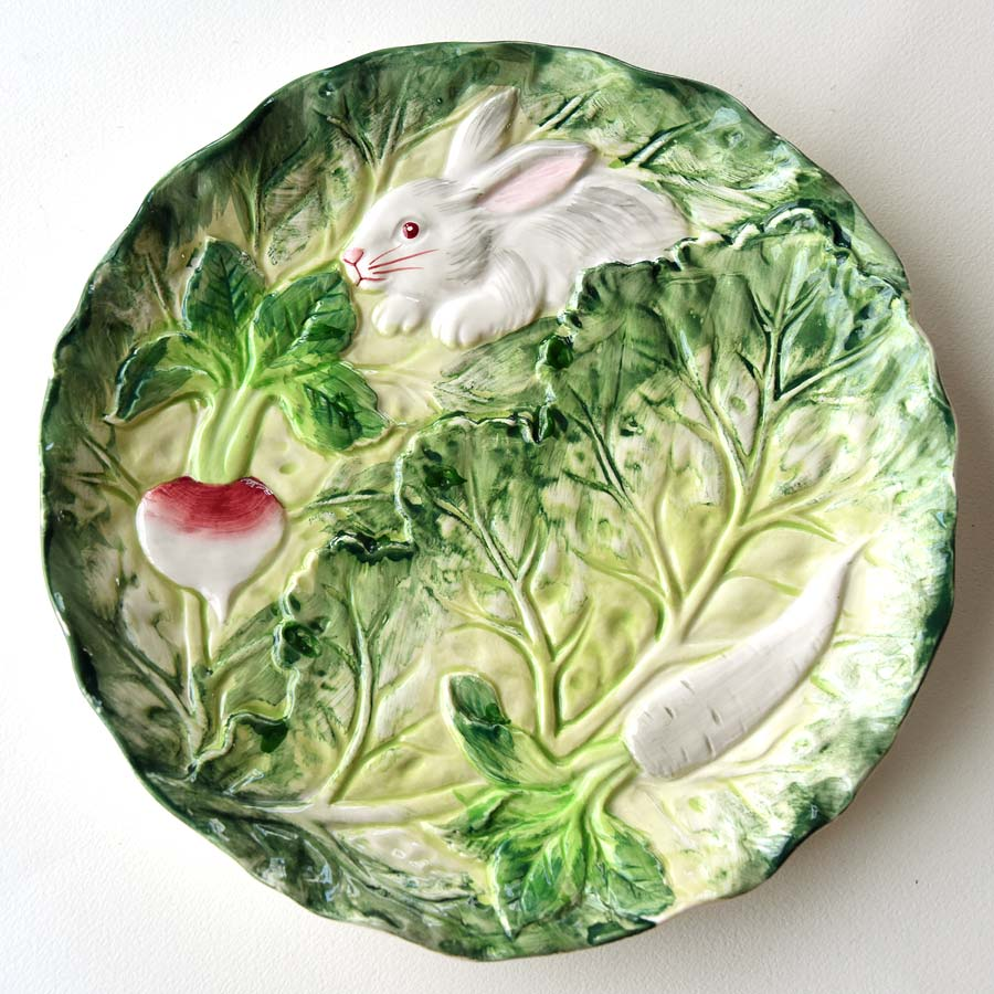 Shafford plate bunny and vegetable china