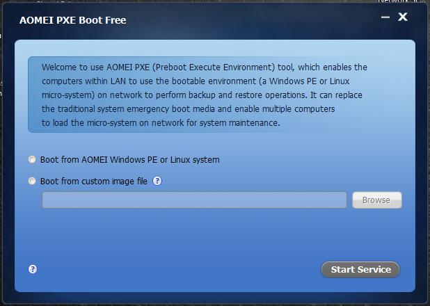 AOMEI PXE Boot Free : Εγκαταστήσετε το νέο σας λειτουργικό  ή επανέφερετε υπολογιστές που βρίσκονται στο ίδιο δίκτυο