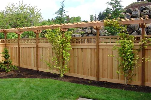 Improves the Appearance of Your House with Installing ... on Backyard Fence Landscaping Ideas id=16424