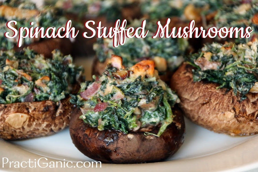 Spinach & Gorgonzola Stuffed Mushrooms