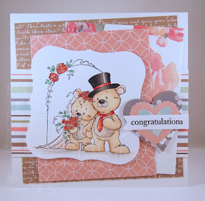 Heather's Hobbie Haven - Mr and Mrs Teddy Bear Card Kit