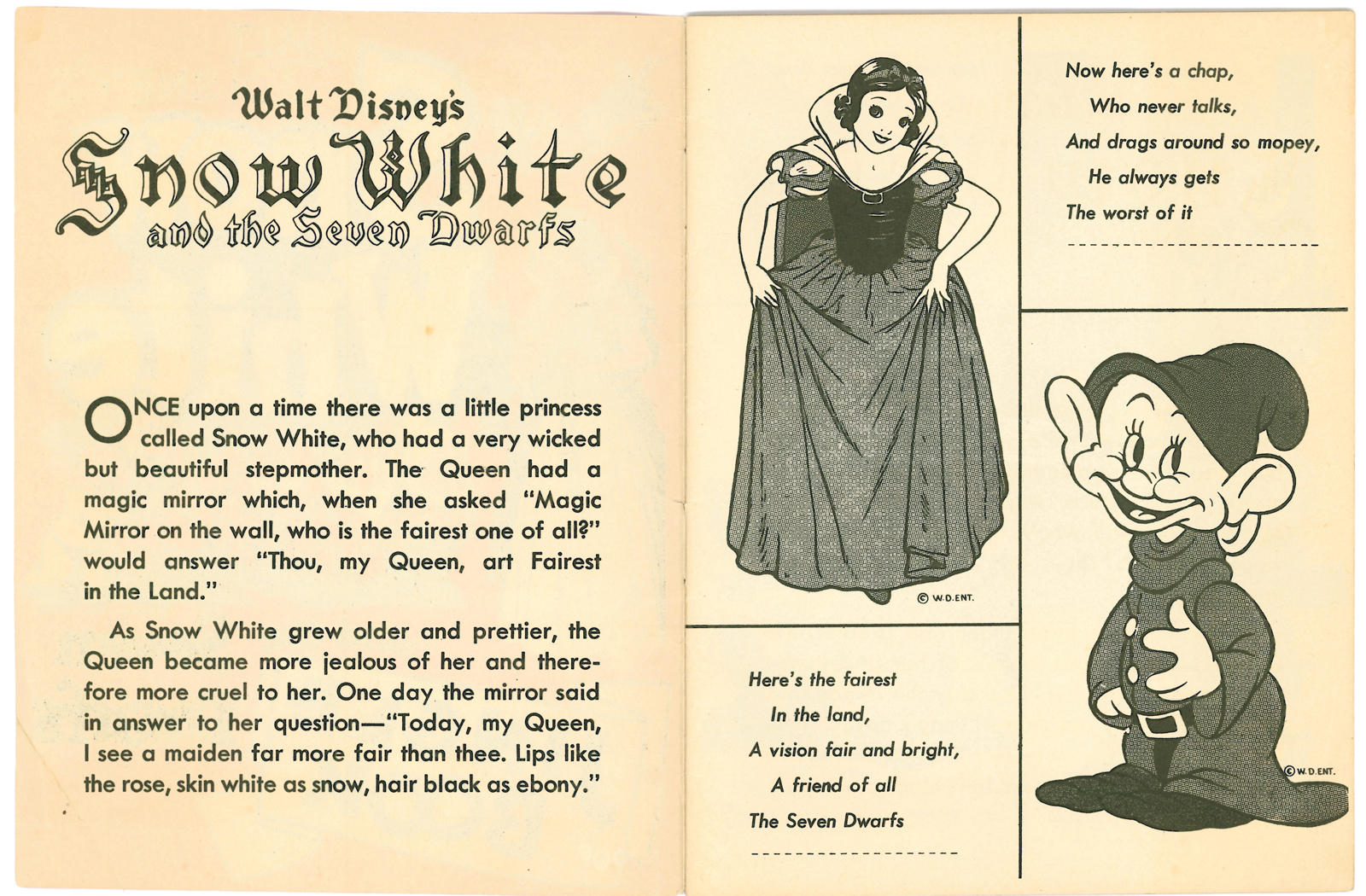Filmic Light - Snow White Archive: 1938