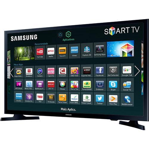"Smart TV LED 32"" Samsung HD com Conversor Digita USB Wi-Fi 120Hz"