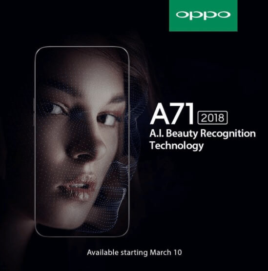 OPPO A71 (2018) to Arrive in PH on March 10