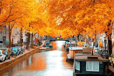 Amsterdam en otoño