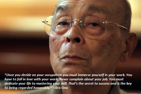 Once you decide on your occupation you must immerse yourself in your work. You have to fall in love with your work. Never complain about your job. You must dedicate your life to mastering your skill. That's the secret to success and is the key to being regarded honorably. --Jiro Ono