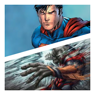 Superman and All Might all out battle