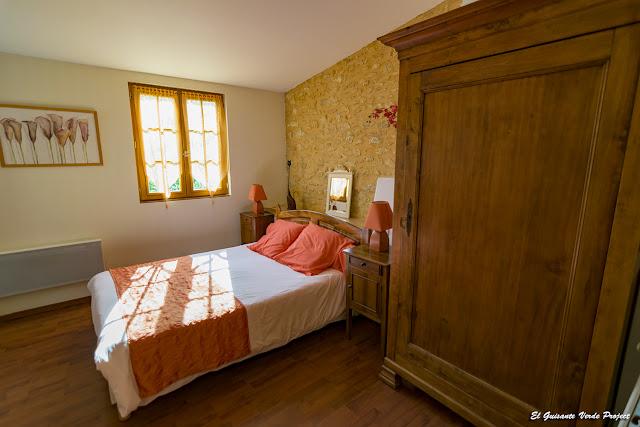 Habitación del Auberge de Castel Merle - Francia por El Guisante Verde Project