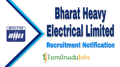 BHEL Recruitment notification 2019, Govt jobs for civil engineers