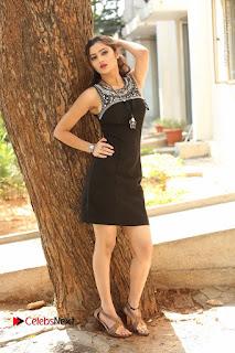 Actress Poojitha Pallavi Naidu Stills in Black Short Dress at Inkenti Nuvve Cheppu Movie Platinum Disc Function  0267.JPG