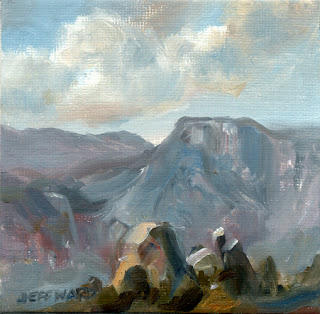 Italian Mountains Oil Painting by Jeff Ward
