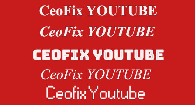 Youtube Yorum Açıklama Ve Başlık'da Yazı Tipi Font Değiştir