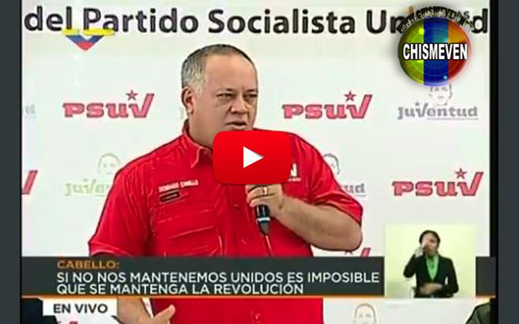 Así fue como se picó Diosdado Cabello en su programa