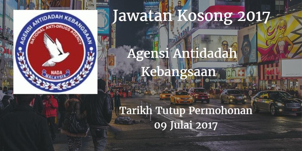 Jawatan Kosong Agensi Antidadah Kebangsaan 09 Julai 2017