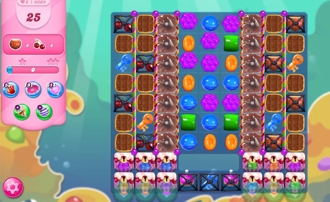 Candy Crush Saga level 6665
