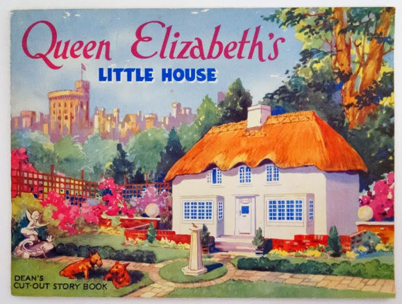 Queen Elizabeth's Little House Dean Cut-out Vintage book