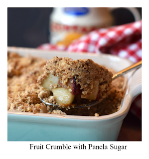 How about trying this comforting fruit crumble recipe, perfect for the colder months.  It is made even more tasty with the use of panela, an unrefined sugar made from organic dried sugarcane juice, which has the lovely natural aroma of toffee.