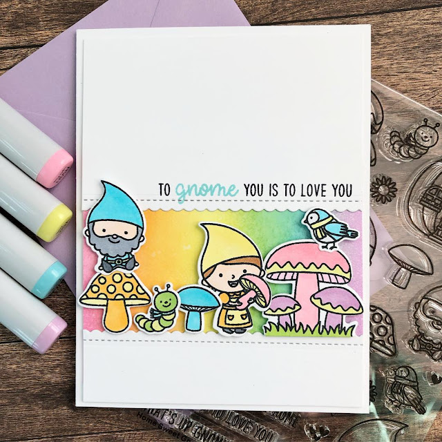Sunny Studio Stamps: Home Sweet Gnome Customer Card by Dana Kirby