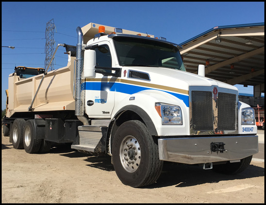 City of Fresno, California Kenworth T880 Dump Truck