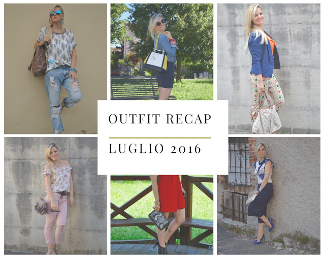 recap outfit luglio 2016 mariafelicia magno fashion blogger color block by felym outfit estivi summer outfits web influencer