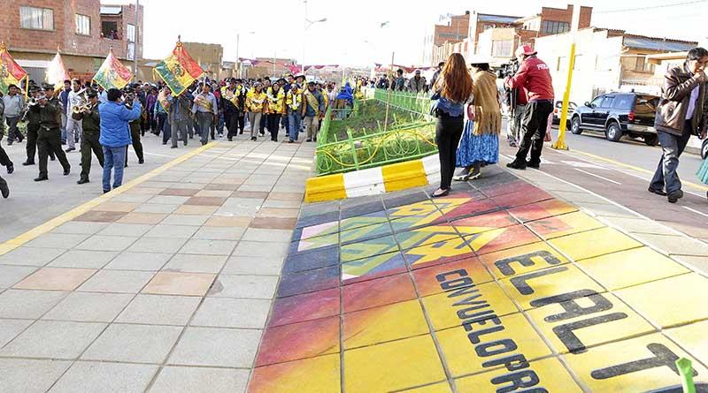 El Alto ya cuenta con dos paseos peatonales para mejorar calidad de vida de los vecinos