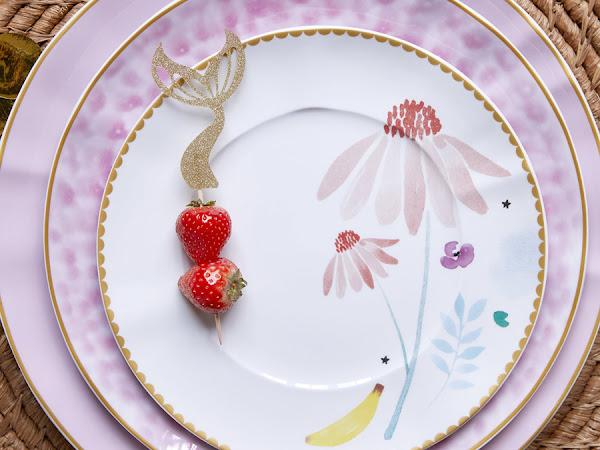 Florale Tischdeko | Mandarinen Cheescake