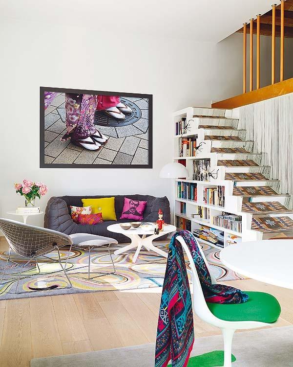 Hogares frescos apartamento de colores con explosi n de energ a y buen gusto en barcelona - Disenador de interiores barcelona ...