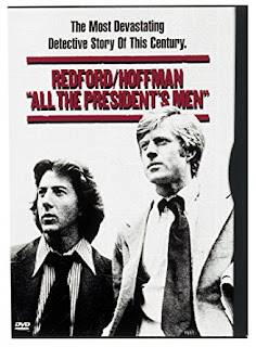 """A DVD cover of """"All the President's Men."""" Text reads """"The most devastating detective story of this century."""""""