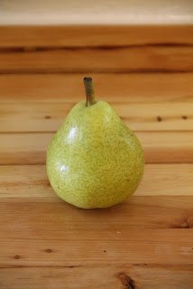 Pear on counter