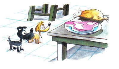 El Perro y el Cocinero fabula