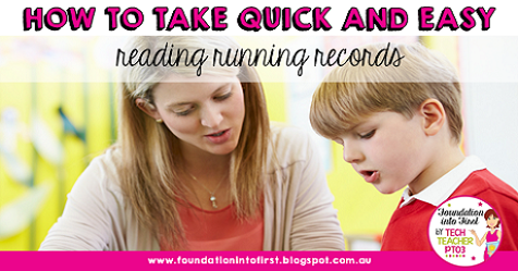 How to take quick and easy reading running records for teachers. PROBE and PM Benchmark reading test for students in primary elementary school. #foundationintofirst #teacher #teachingblog