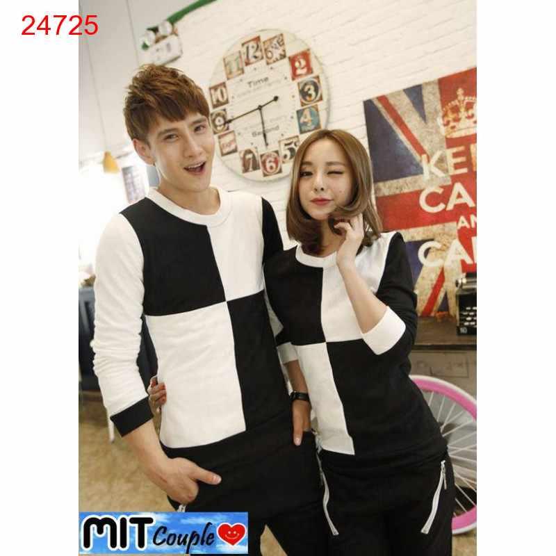 Jual Sweater Couple Sweater Catur Hitam Putih - 24725