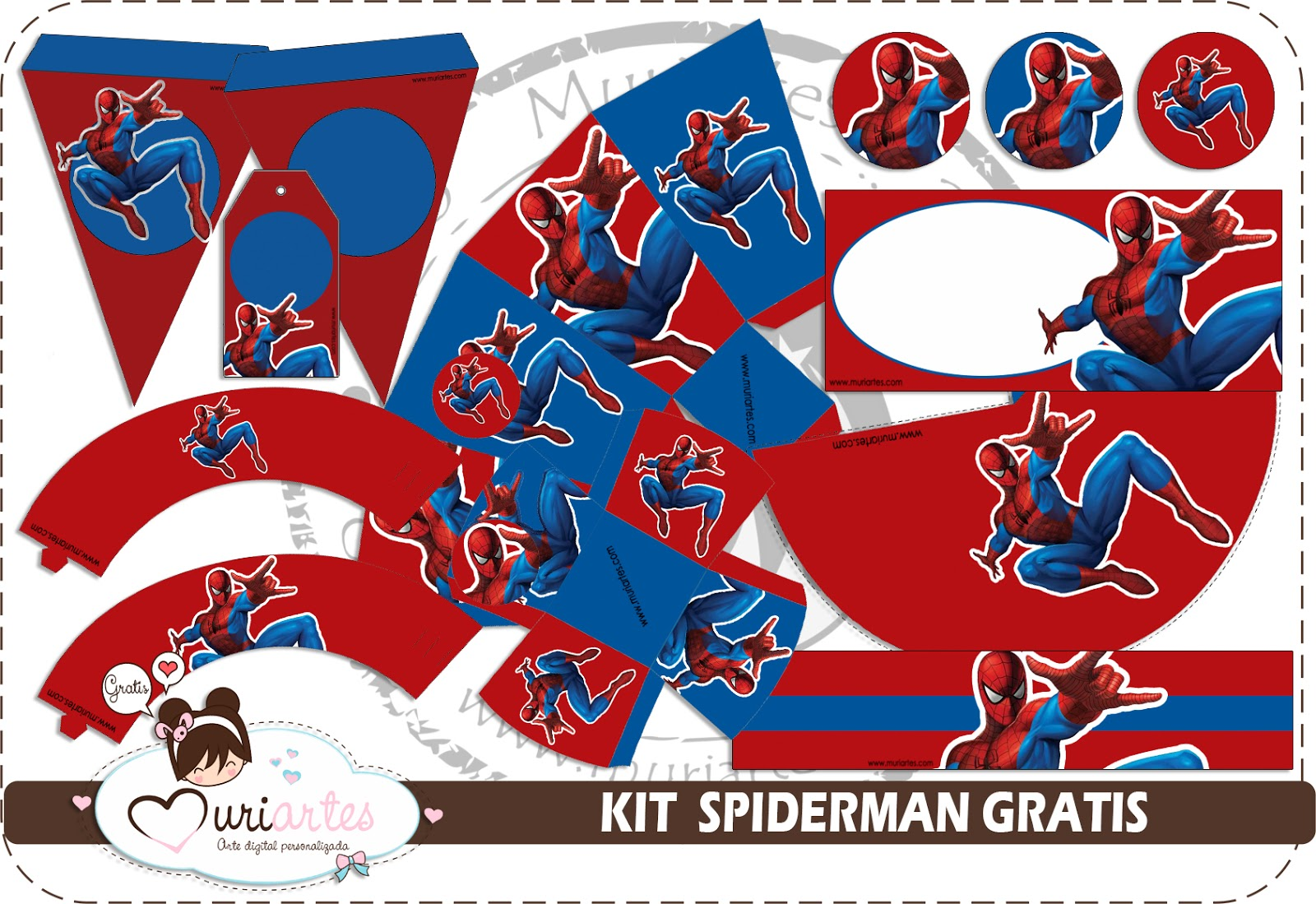 Kit Gratuito Spiderman
