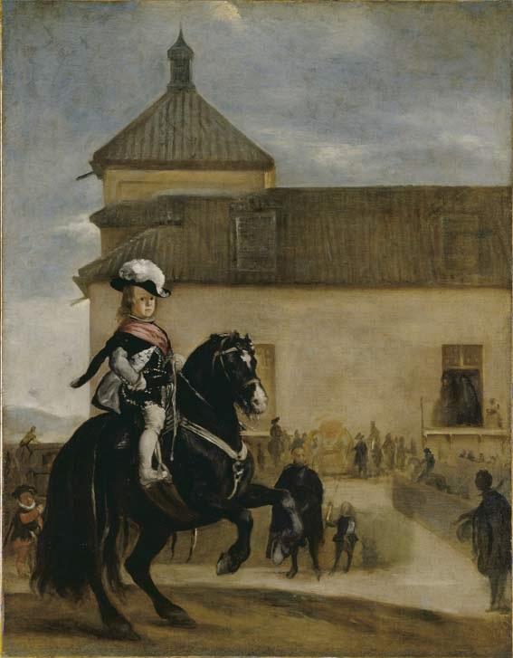 Baltasar carlos en el picadero 1644