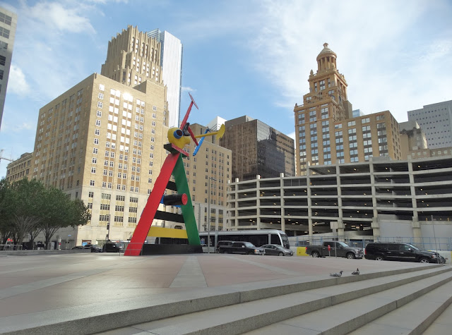 JPMorgan Chase & Co Plaza with Miro sculpture