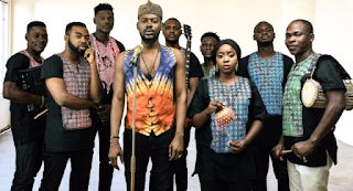 """Adekunle Gold introduces his band """"The 79th Element"""""""